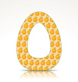 The letter O of the alphabet made of Orange vector image vector image