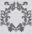 Vintage baroque border frame card cover vector image vector image