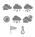 Weather symbols set contrast flat vector image