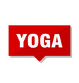 yoga red tag vector image vector image