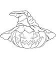 coloring pumpkin for halloween vector image