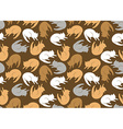 Seamless pattern with color cats vector image