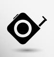 Tape measure icon Roulette construction button vector image