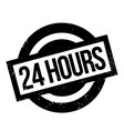 24 hours rubber stamp vector image
