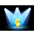 A duck with spotlights vector image vector image