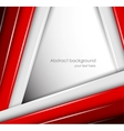 Abstract background with red and gray lines vector image vector image
