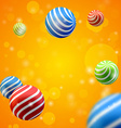 abstract group of spheres vector image vector image