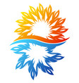 air conditioning sun and snowflake symbol unique vector image vector image