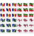 Andorra Tatarstan Solomon Islands England Set of vector image vector image