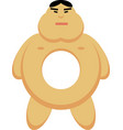 asian man as a donut vector image vector image