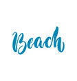 beach lettering isolated vector image