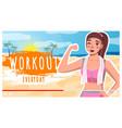 beauty girl in sportswear runner jogging vector image