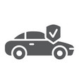 car insurance glyph icon safety and auto vector image