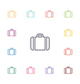 Case flat icons set vector image vector image