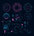 circle futuristic shapes for digital web interface vector image