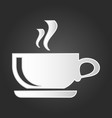 coffee cup icon symbol for your web site vector image vector image