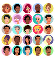 Collection of female and male avatars vector image vector image