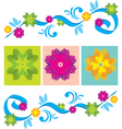Color Floral ornament vector image