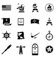 Columbus Day icons set cartoon style vector image vector image