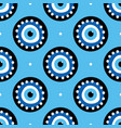 conceptual decorated blue evil eyes symbol pattern vector image vector image