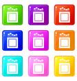 crayons icons 9 set vector image vector image