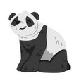 cute smiling panda bear funny wild animal sitting vector image vector image