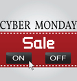 Cyber monday design eps10 Cyber monday graphic vector image