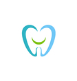 dentist teeth smile logo vector image vector image