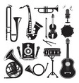 different monochrome pictures of musical vector image vector image