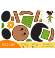 education paper game for children african vector image vector image