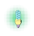 Energy saving lamp icon comics style vector image vector image