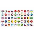 flags icons simple flags of the countries vector image