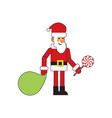 fun santa claus lollipop vector image vector image
