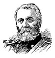general o o howard vintage vector image vector image