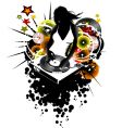 Girl dj vector | Price: 1 Credit (USD $1)