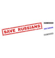 Grunge save russians textured rectangle stamp