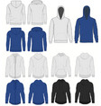 hoody fashion sweatshirt template front and back vector image vector image