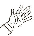 human hand icon vector image vector image
