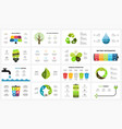 infographic templates set ecology nature vector image vector image