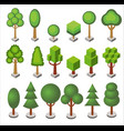 isometric cartoon set of forest and city park vector image