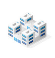 isometric house building skyscraper concept vector image vector image