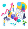 isometric is the concept of business team success vector image