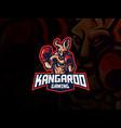 kangaroo mascot sport logo design vector image vector image