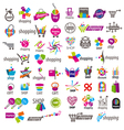 large collection of logos and shopping vector image
