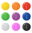 line style candle icons set 9 colors isolated on vector image vector image