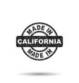 made in california stamp on white background vector image vector image
