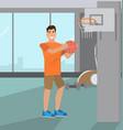 man playing basketball vector image