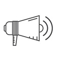 Megaphone Speaker Outline Icon vector image vector image