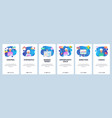 mobile app onboarding screens business vector image vector image
