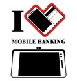 Mobile Banking Logo Design vector image vector image